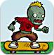 僵尸玩滑板