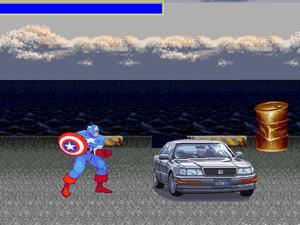 美国队长破坏汽车