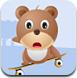 可爱小熊玩滑板