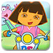朵拉开摩托车