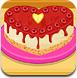 可口芝士心型蛋糕