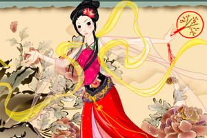 中国古典舞女孩
